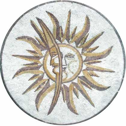 MD25 Sun & moon stone art Mosaic