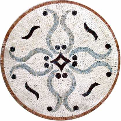 MD255 white elegance medallion Mosaic