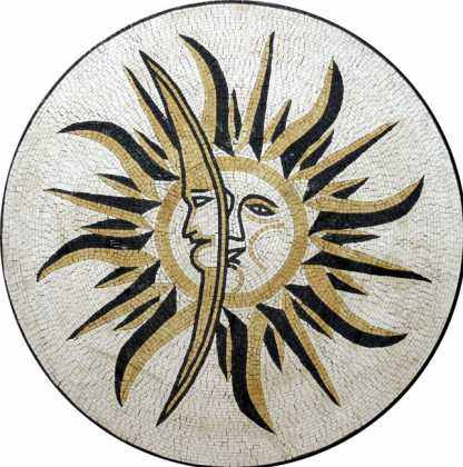MD264 Sun & moon stone art Mosaic