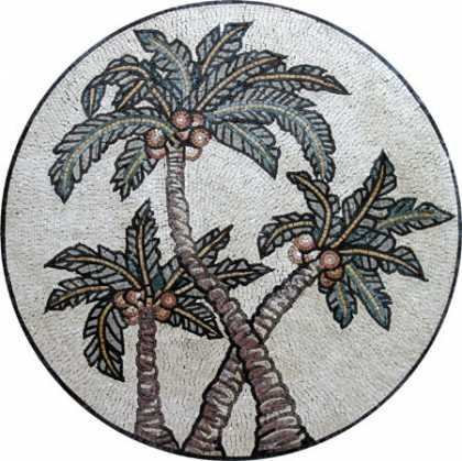 MD265 Palm tree trio Mosaic