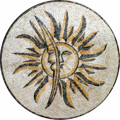 MD280 Sun & moon stone art Mosaic
