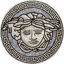 MD295 Versace Round Medallion Marble Mosaic