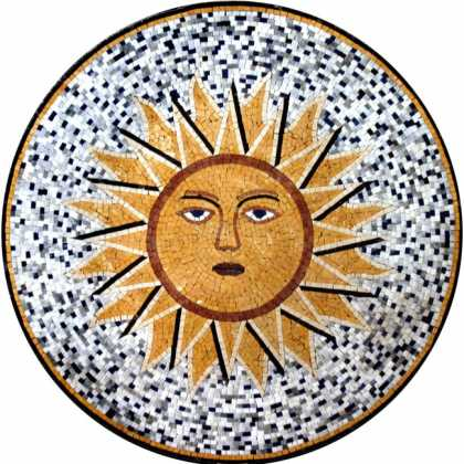 MD352 Sun face on dotted background Mosaic
