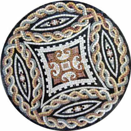 MD362 Braids & Arrows Medallion Art Mosaic