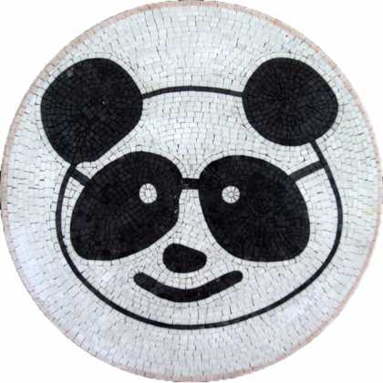 MD384 Panda Head Mosaic Medallion
