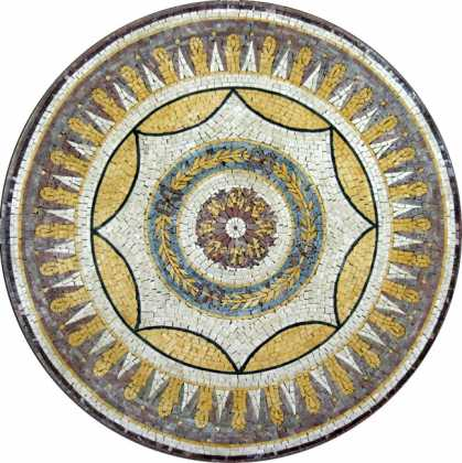MD389 golden explosion medallion Mosaic