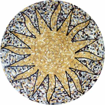 MD399 Big sun on dotted background Mosaic