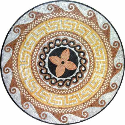MD409 earth colors multi design medallion Mosaic