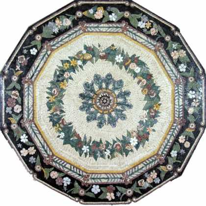 MD429 Chinese-style flower circles Mosaic