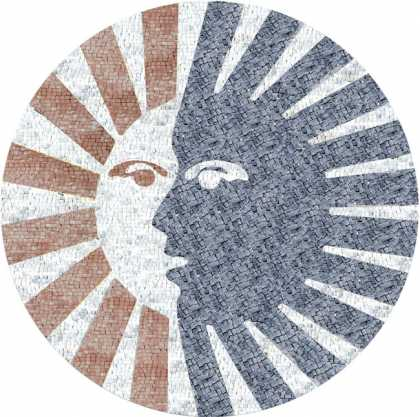MD457 Sun and Moon faces art Mosaic