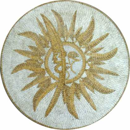 MD458 Sun & moon stone art Mosaic