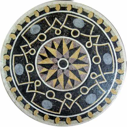 MD475 sophisticated stone art medallion Mosaic
