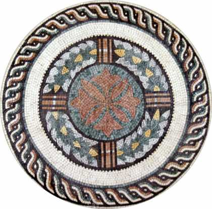MD51 Roman-style leaf crown Mosaic