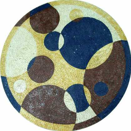 MD52 Modern Colorful Circles Mosaic