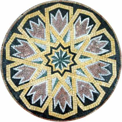MD558 Beautiful medallion stone