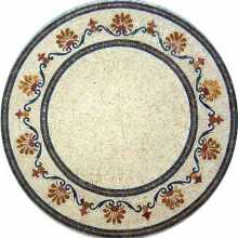 Round Floor Wall Decor Elite Marble Mosaic MD599