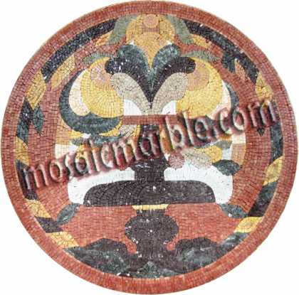 MD646 colorful artistic medallion Mosaic