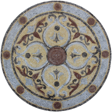 Marble Floor Medallion Light Grey & Alicante  Mosaic