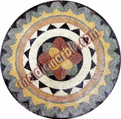 MD658 flower and shapes medallion Mosaic