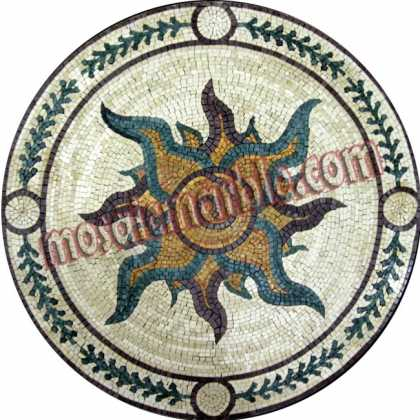 MD755 central flower medallion Mosaic