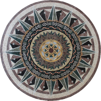 Elegtant multi design star medallion Mosaic