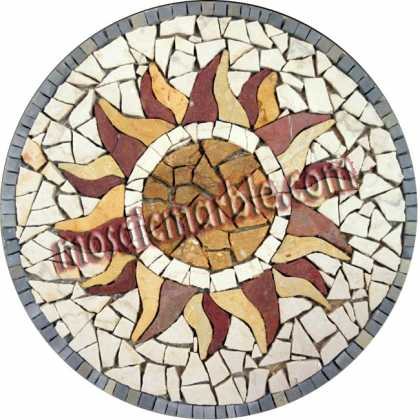 MD784 Cracked marble style sun Mosaic