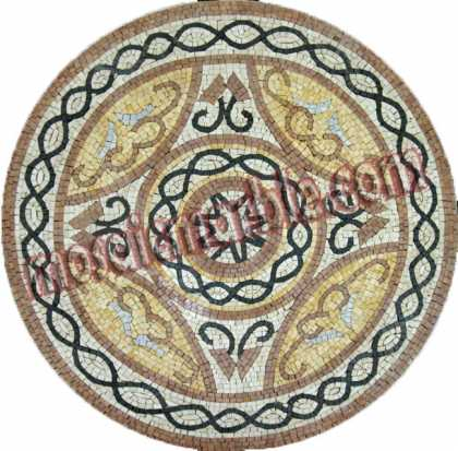 MD834 Classis Medallion Stone art Mosaic