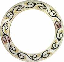 Black Vines Spiral Round Mirror Border