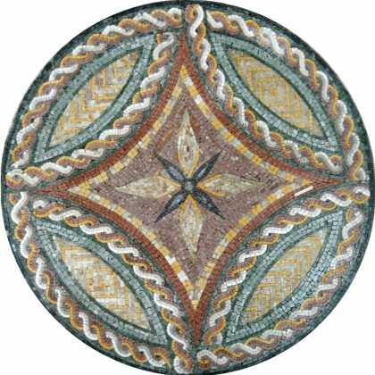MD962 Losange braid design medallion Mosaic