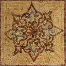 Yellow Mosaic Square Tile