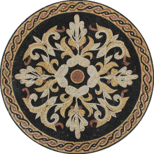 Victorian Style Mosaic Round Tile