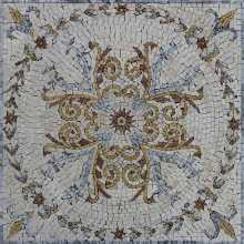 Square Ancient Mosaic Floor Tile