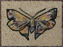 Butterfly Mosaic Decorative Tile