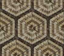 Repetitive Hexagon Floor Tile Mosaic