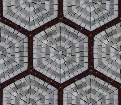 Repetitive Hexagon Pattern Wall Mosaic Tile