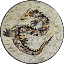 Multicolor Dragon Wall Floor Mosaic