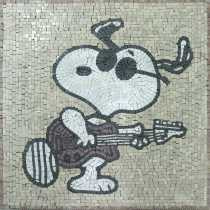 Snoopy Cartoons Mosaic
