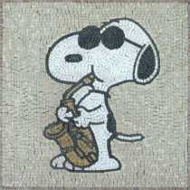 Snoopy Square Cartoons Mosaic