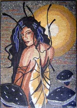 Butterfly Woman Mosaic