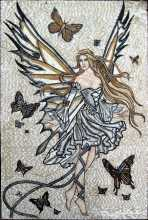Fantasy Art Butterfly Fairy Mosaic