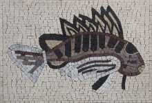 Fish Backsplash Mosaic Tile Decor