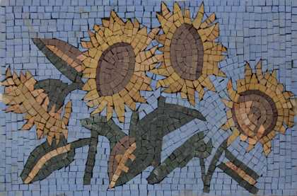 FL909 Cutest Sunflowers Mosaic