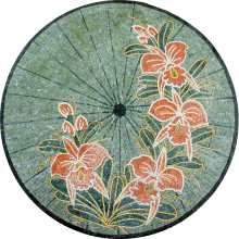 Flower Mosaic Stepping Stone for the Garden