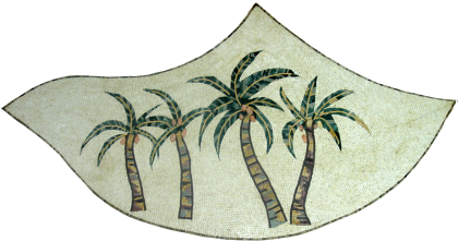 Palm Tree Tropical Round Mosaic