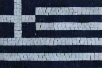 Greek Flag Blue White Insert Mosaic
