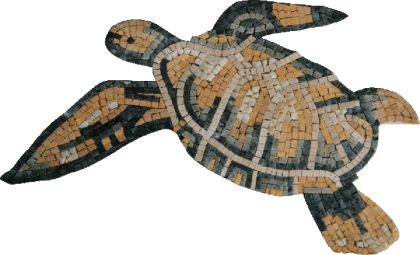 Green and Yellow Sea Turtle Mosaic