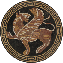 Greek Mythology Griffin Mosaic