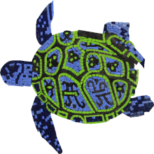 Hawaiian Vibes Sea Turtle Mosaic