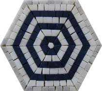 Hexagon Puzzle Mosaic Tile
