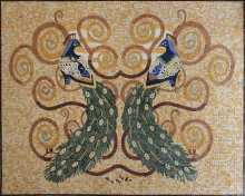 Two Peacocks Luxury Mosaic Art